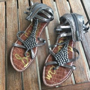 SAM EDELMAN leather studded gladiator sandals 9.5